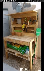 pallet garden potting bench u2022 1001 pallets