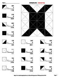 3 digit by 1 digit multiplication coloring worksheets by whooperswan