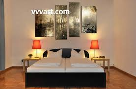 Nature Bedroom by 4 Piece Brown Canvas Nature Wall Art