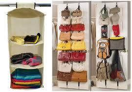 hanging closet organizer or 2 pack over the door purse racks as