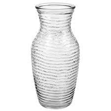 Clear Vases Bulk Bulk Clear Wavy Glass Bouquet Vases 7 5 8