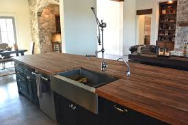 Kitchen Island Wood Countertop Devos Custom Woodworking Reclaimed Boxcar Flooring Wood