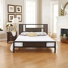 premier christa metal platform bed frame full with bonus base