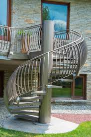 Outer Staircase Design Outdoor Spiral Staircase Designs To Complement The House Exterior