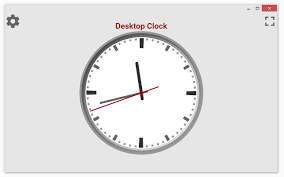 desktop clock chrome web store