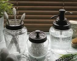 Bathroom Glass Storage Jars Kilner Jar Etsy