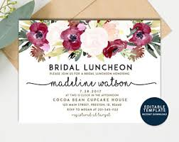 bridal luncheon bridesmaid luncheon invitations etsy