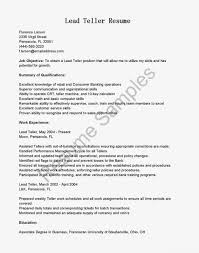 Personal Banker Job Description For Resume by Teller Sample Resume Cover Letter Bank Teller Sample Resume Bank