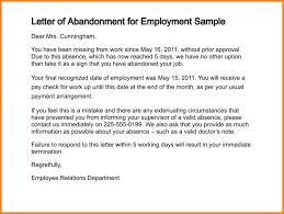 job abandonment letter letter of abandonment for employment sample