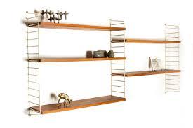 teak string shelves nisse strinning 1950s design market