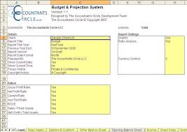 budget u0026 projection system excel templates for bookkeeping and