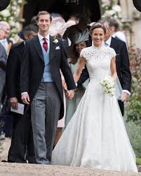 pippa middleton u0027s wedding dress designed by giles deacon one of