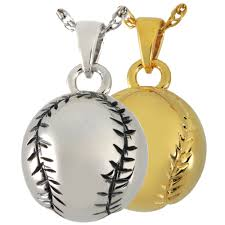 pendant for ashes baseball softball cremation pendant necklace for human ashes