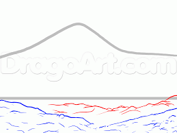 how to draw mount everest step by step landscapes landmarks