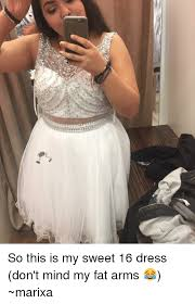 Sweet 16 Meme - so this is my sweet 16 dress don t mind my fat arms marixa