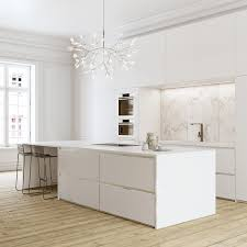 classis and comtemporer kitchen design with white color