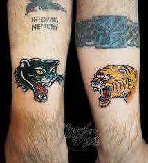 panther and tiger fix up tattoos miguel custom t flickr