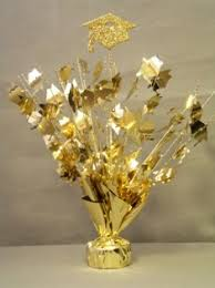 graduation center pieces gold graduation centerpiece ready to go gold graduation centerpiece