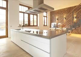 hauteur hotte de cuisine ilot central avec hotte cuisine en image