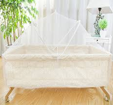 Small Baby Beds Portable Wood Crib Cradle Bed Baby Shaker Small Baby Cradle In