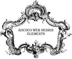 rococo style in modern web design