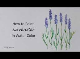 how to paint lavender in watercolor youtube