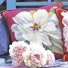 Kaffe Fassett Tapestry Cushion Kits White Peony Ehrman Tapestry