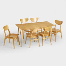 wood liam fixed dining table world market