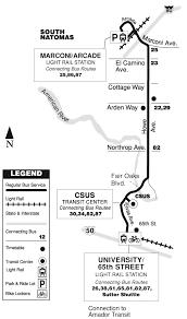 Sacramento Light Rail Map 87 Howe