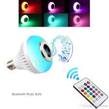 bluetooth music light bulb e27 led music light 220v 110v led rgb bluetooth speaker bulb