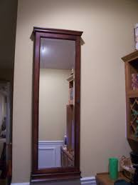 Jewelry Mirror Armoire Furniture Wall Mount Mirror Jewelry Armoire In Walnut Plus