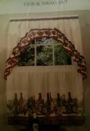 Grape Kitchen Curtains by French Grapes Cream Kitchen Decor Hanging Hand Towels Proceeds