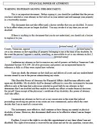 free tennessee power of attorney forms and templates