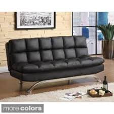 Futon Leather Sofa Bed Leather Futons For Less Overstock