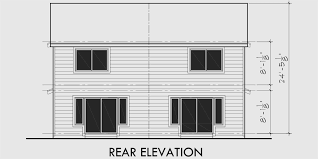 Two Story Rectangular House Plans Two Story Duplex House Plans 2 Bedroom Duplex House Plans D 370