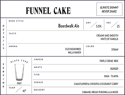 funnel cake ale forgotten boardwalk