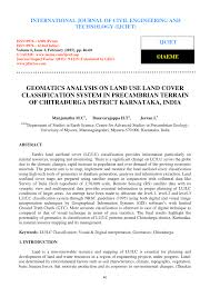 geomatics analysis on land use land cover classification system in