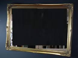 antique gold large shabby chic style mirror 24