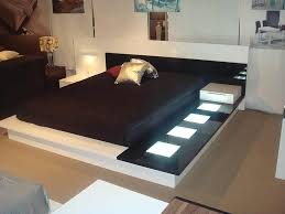 Modern Platform Bed With Lights - impera modern contermporary fine furniture bed contemporary bedroom