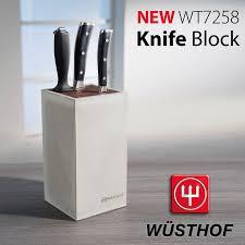 wüsthof concrete knife block sculptural and minimalist the wt7258