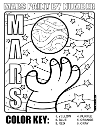 mars and other planets coloring pages pinterest time