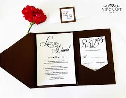 pocket fold silver pocket fold wedding invitation set of 10 vip craft studio