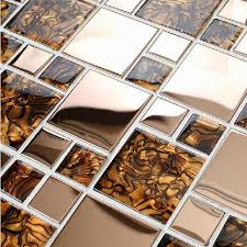 Kitchen Wall And Floor Tiles Design Gold U0026 Brown Tile Backsplash Wall Bar Floor Tiles Mosaic