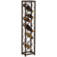 stylish narrow wine rack monticello double row wine rack floor