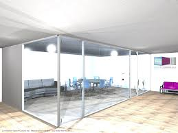configuration bureau types de configuration en vue 3d espace cloisons alu ile de