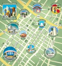 map of downtown los angeles downtown la