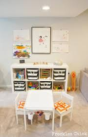Freckles Chick Play Area  Love The Seat Cushionsbaskets For - Family play room