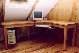 Wood L Shaped Desk Custom L Shaped Computer Desk Vermont Furniture Works