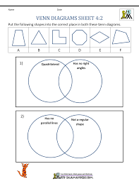 Division Worksheets Grade 4 Venn Diagram Worksheet 4th Grade