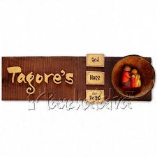 buy handmade name plate design for family of 3 members online in